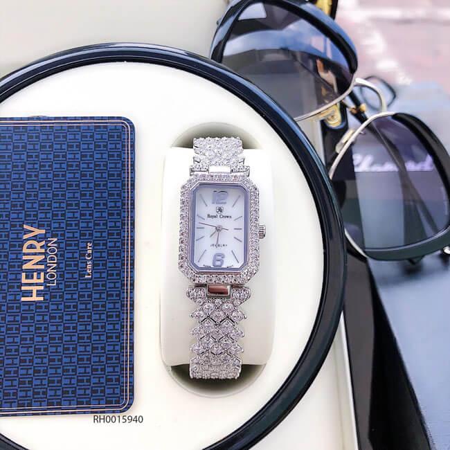đồng hồ nữ Royal Crown mã 6316 dây đá