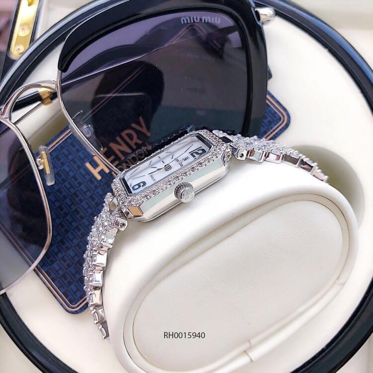 độ dày đồng hồ nữ Royal Crown mã 6316 dây đá