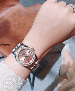 Đồng hồ cặp rolex nam nữ dây kim loại, đồng hồ rolex máy nhật bản giá rẻ