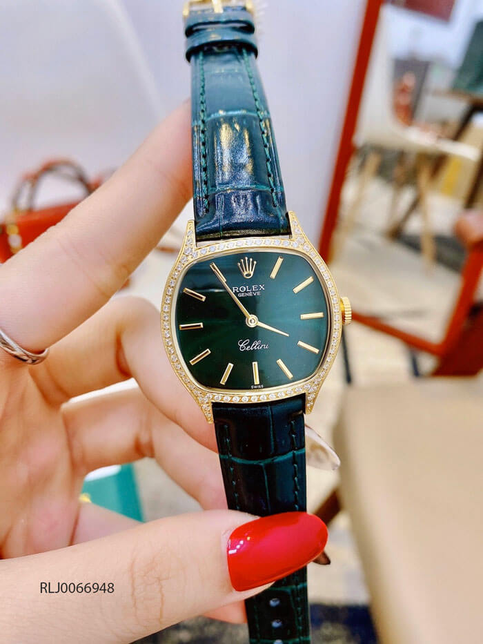 Đồng hồ Rolex dây da CLASSIC LEATHER LADY máy Thụy sỹ cao cấp