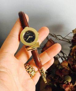 Đồng hồ nữ Ferragamo Gancino dây da bò nâu máy thụy sĩ cao cấp fullbox
