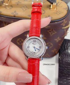 Đồng hồ đeo tay nữ Chopard Happy Diamond dây da cao cấp