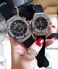 Đồng hồ Hublot Nam Nữ chạy 5 kim viền bạc giá rẻ