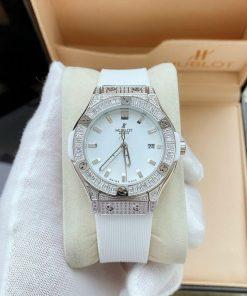 đồng hồ hublot nữ màu trắng chính hãng, đồng hồ hublot geneve nữ giá rẻ