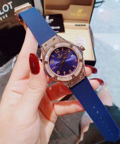 Đồng hồ Hublot Nữ Geneve Chronograph viền đính full đá cao cấp