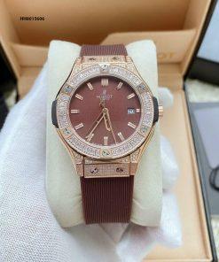 đồng hồ hublot nữ màu nâu geneve nữ giá rẻ