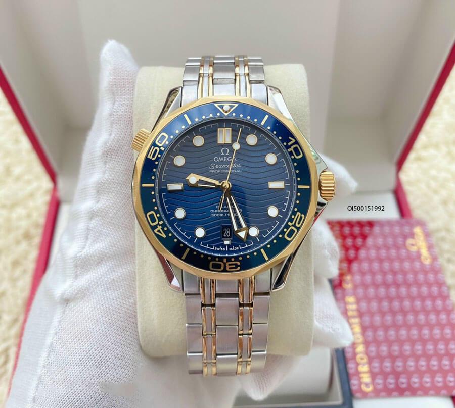Đồng hồ Omega Seamaster lộ máy cơ dây thép không gỉ cao cấp, đồng hồ máy cơ giá rẻ