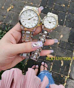 Đồng Hồ Rolex Nam Nữ dây demi mặt đính đá giá rẻ