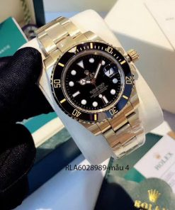 Đồng hồ rolex nam dây kim loại viền đen giá rẻ