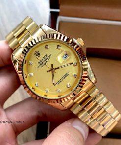 Đồng hồ rolex nam dây demi đúc đặc vàng giá rẻ