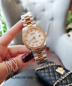 Đồng hồ rolex đá dây đúc demi vmặt trắng giá rẻ