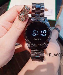 đồng hồ rolex nữ cảm ứng dây đen giá rẻ