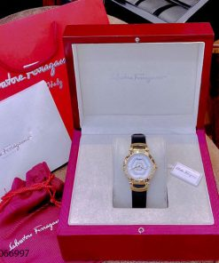 Đồng hồ nữ Salvatore Ferragamo dây da máy thụy sĩ cao cấp