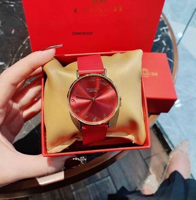 Đồng hồ Coach dây da phiên bản Perry