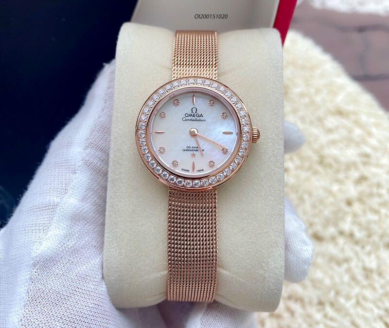 đồng hồ omega deville nữ dây kim loại88168178