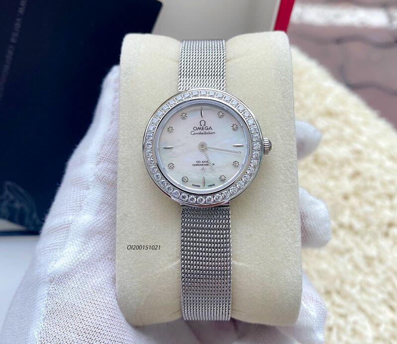đồng hồ omega deville nữ dây kim loại 88168178 giá rẻ