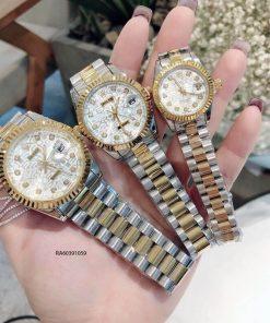 Đồng Hồ Rolex Nữ dây demi mặt 3D giá rẻ