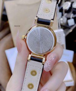 Đồng hồ Versace Tribute Leather dây da đen