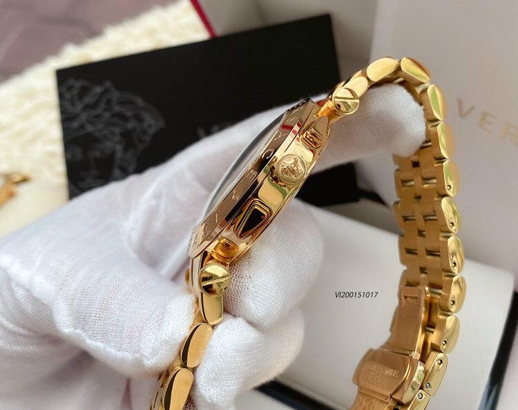 đồng hồ cặp versace dây kim loại cao cấp