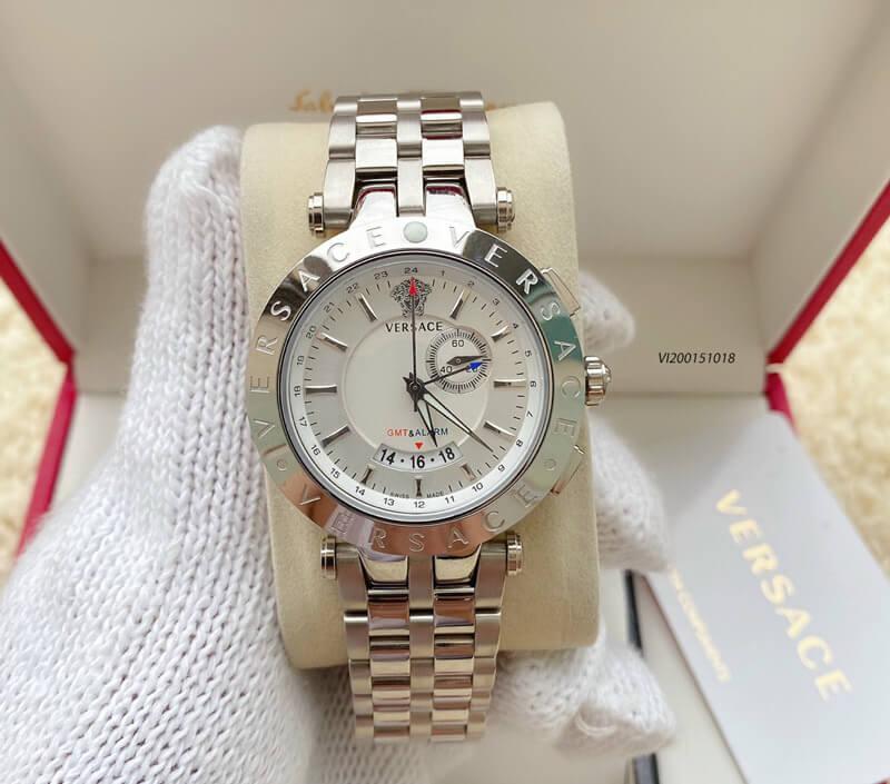 Đồng hồ versace nam dây kim loại cao cấp