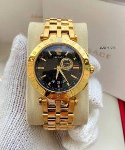 Đồng hồ cặp Versace Daphnis dây Demi vàng mạ PVD