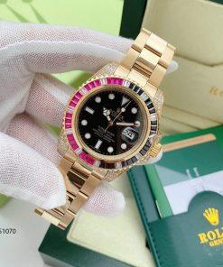 Rolex Oyster Perpetual Date Máy cơ cao cấp mạ vàng