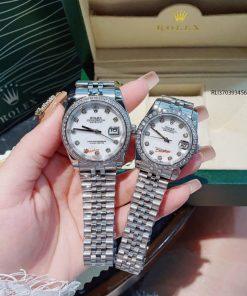 Đồng hồ Rolex máy cơ viền đá cao cấp