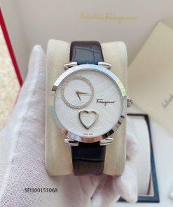 Đồng hồ salvatore ferragamo nữ dây da hình trái tim