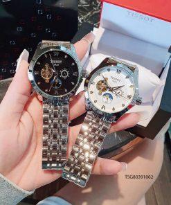 Đồng hồ Tissot Máy cơ nam dây kim loại cao cấp