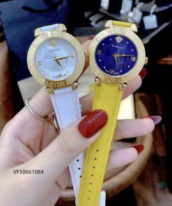 đồng hồ versace nữ dây da trắng