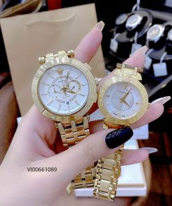 Đồng hồ Cặp Versace V-Race Montre - DAPHNI dây kim loại cao cấp