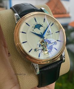 Đồng hồ nam Omega máy cơ dây da giá rẻ
