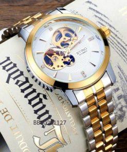 Đồng hồ nam Byino Cơ hãng dây kim loại giá rẻ