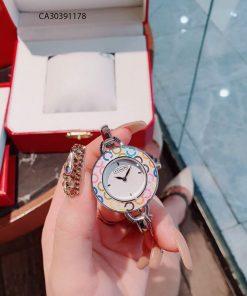 Đồng hồ nữ Coach Còng mặt hoa văn