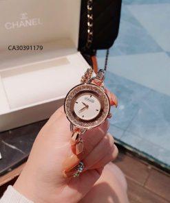 Đồng hồ nữ Coach Còng mặt viền đá