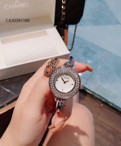 Đồng hồ nữ Coach Còng mặt viền đính full đá