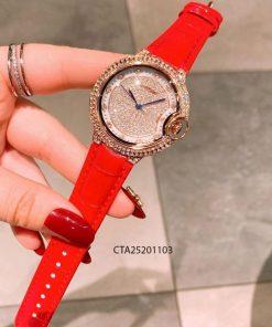 Đồng hồ nữ cartier dây da đỏ giá rẻ