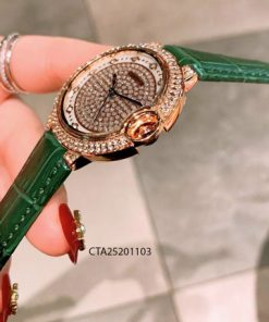 Đồng hồ nữ cartier dây da giá rẻ