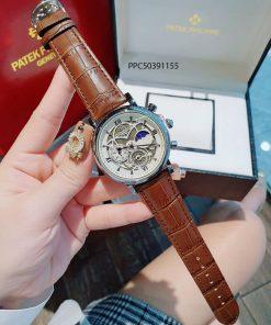 Đồng hồ Patek Phillip nam dây da giả cơ giá rẻ