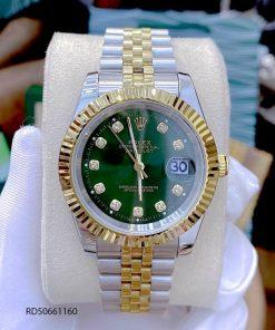 Đồng Hồ Rolex DATEJUST nam dây thép không gỉ demi cao cấp
