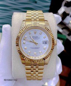 Đồng Hồ Rolex DATEJUST nam máy cơ dây thép mạ vàng cao cấp