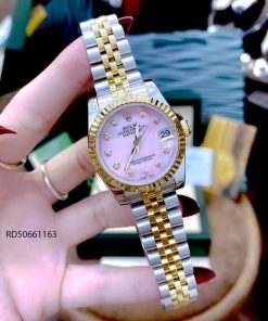 Đồng Hồ Rolex DATEJUST nữ dây vàng mặt hồng cao cấp