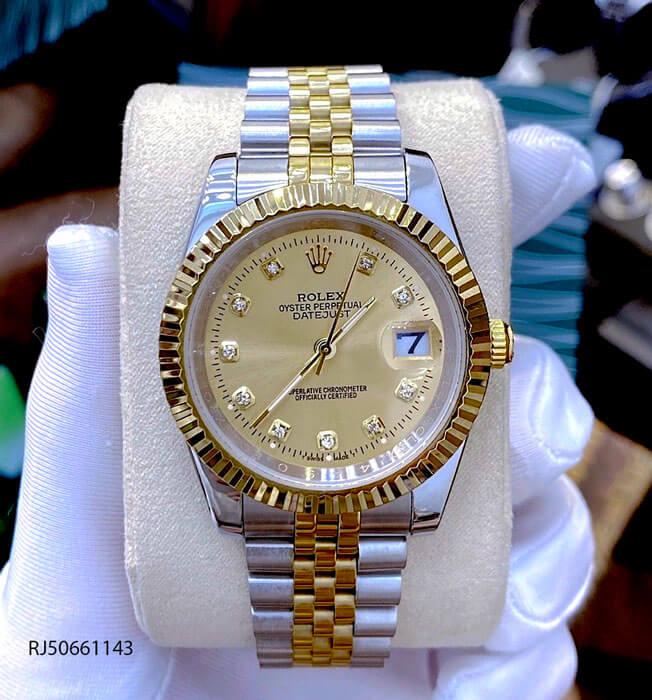 Đồng hồ Rolex DATEJUST nam dây demi thép không gỉ mẫu 2021