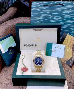 Đồng hồ Rolex DATEJUST cơ nam dây mạ vàng PVD cao cấp