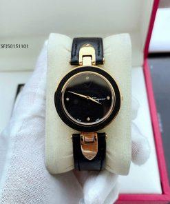 Đồng hồ nữ Salvatore Ferragamo dây da màu đen