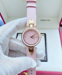 Đồng hồ nữ Salvatore Ferragamo dây da màu hồng