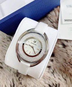 Đồng hồ Swarovski nữ Crystalline Oval dây da cao cấp