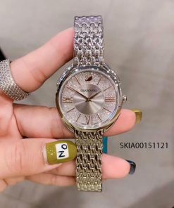 Đồng hồ nữ Swarovski Crystalline Oval mặt hột đá cao cấp