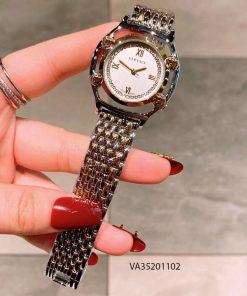 Đồng hồ Versace nữ dây kim loại bạc mặt trắng giá rẻ