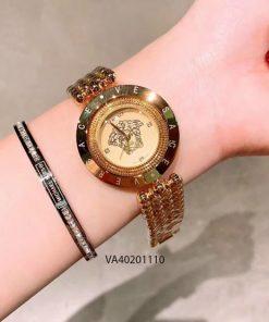 Đồng hồ versace nữ dây bi mặt xoay giá rẻ